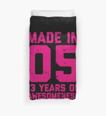13th Birthday Gift Teens Age 13 Year Old Girl Girls Duvet Cover