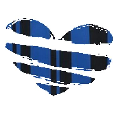 The Black&Blue Heart by thestarshop00