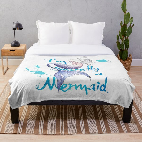 I'm Secretly a Mermaid Throw Blanket