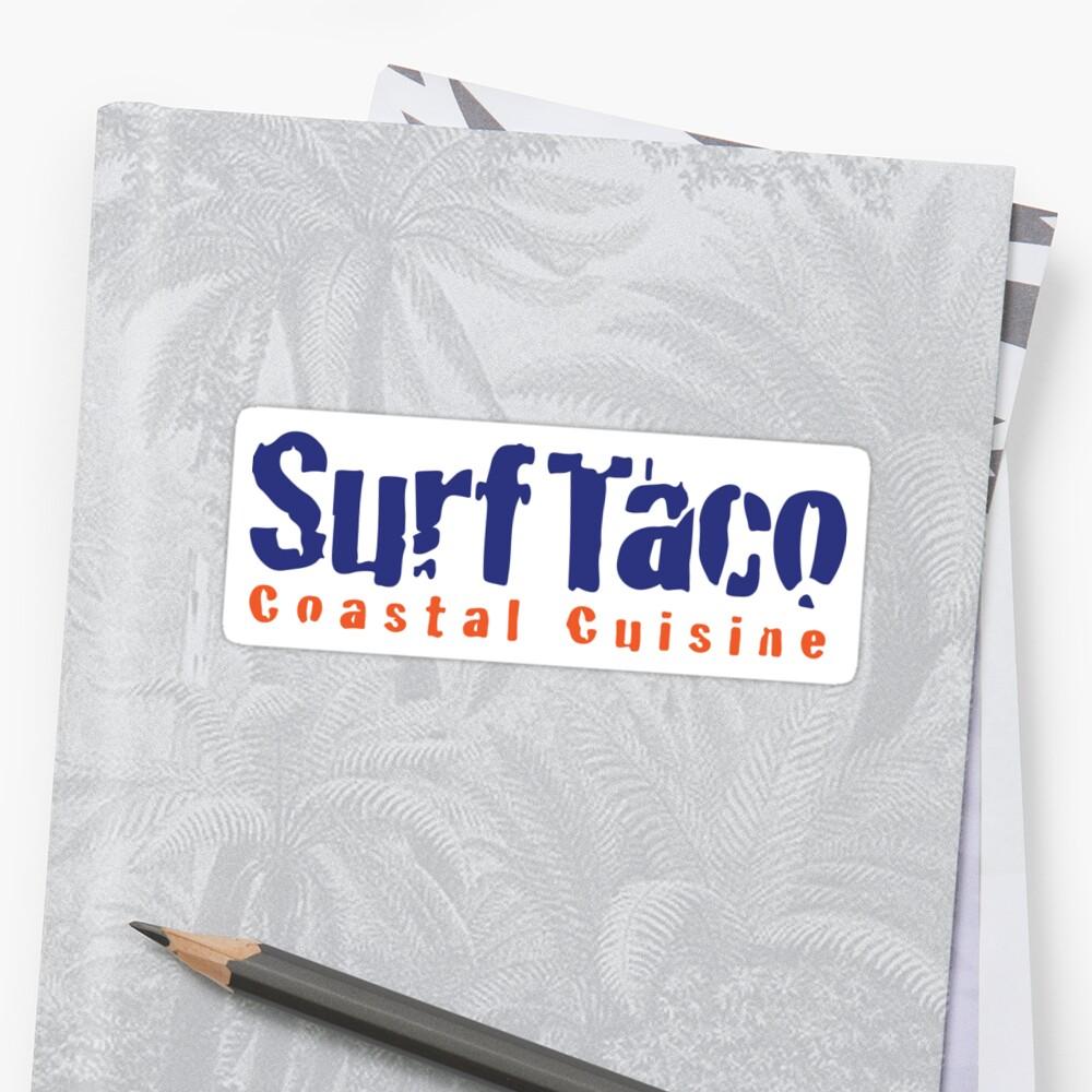 Surf Taco Costal Cuisine Sticker