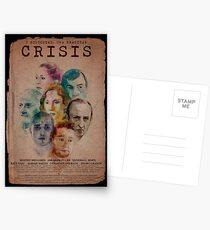 Cartel CRISIS Borde Negro Postales