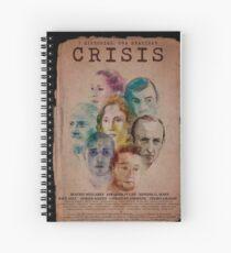 Cartel CRISIS Borde Negro Cuaderno de espiral