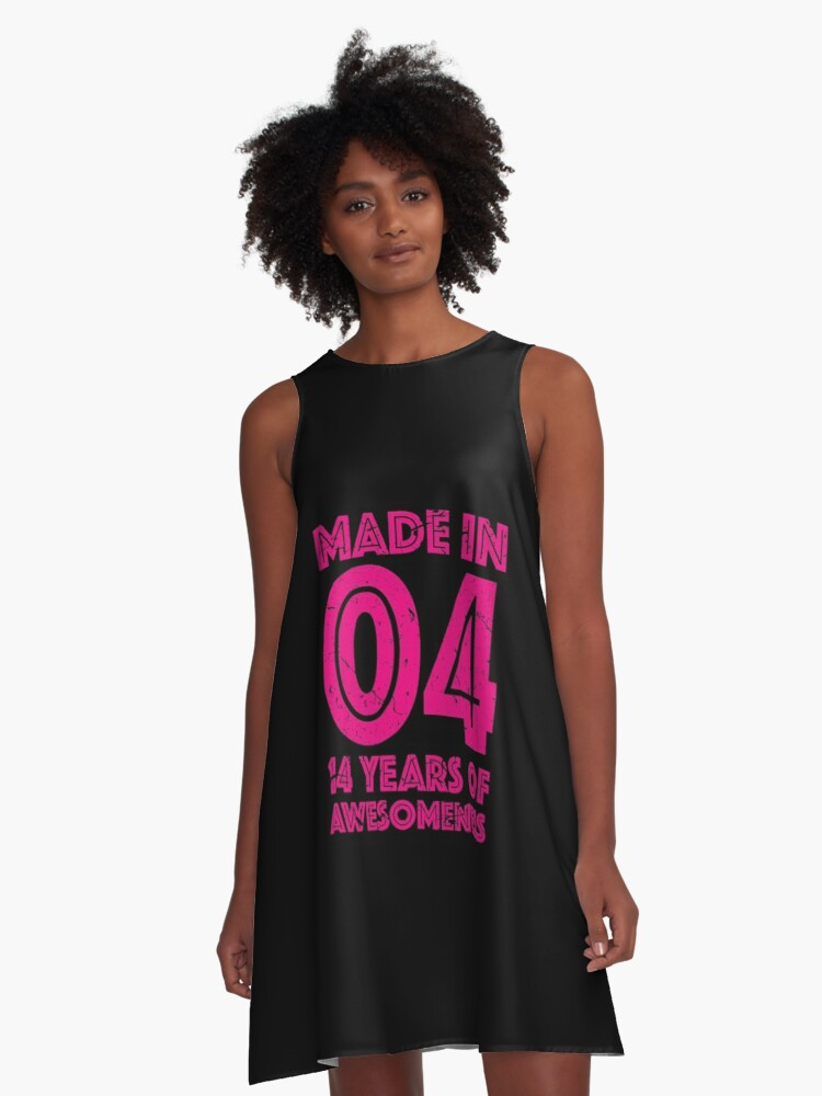 14th Birthday Gift Teens Age 14 Year Old Girl Girls A Line Dress Front