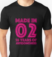 16th Birthday Gift Teens Age 16 Year Old Girl Girls Unisex T Shirt