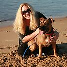 23. Shondelle & her Staffy-Ridgeback by Cathie Brooker