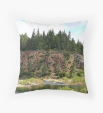 Mouth of Deer Creek Throw Pillow