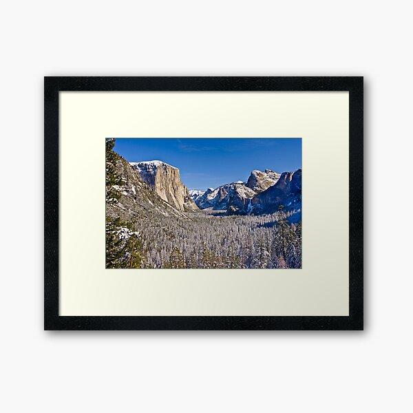 Yosemite Valley Winter Framed Art Print