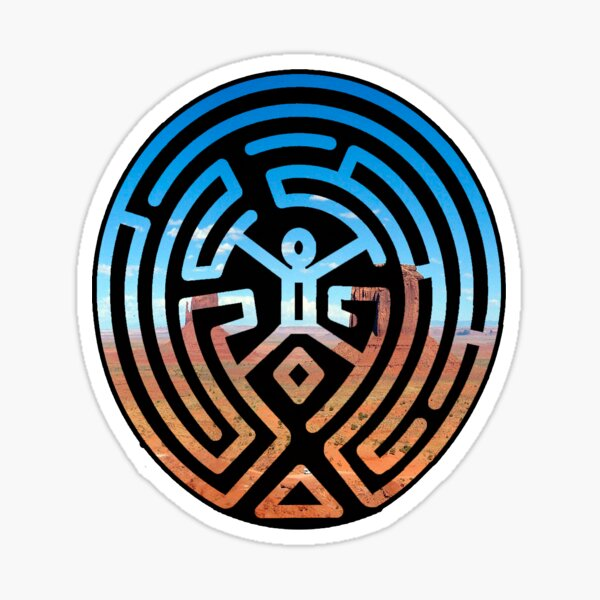 Labyrinthe de Westworld Sticker