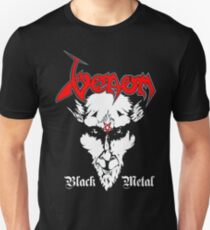 Venom-Schwarzes Metall Slim Fit T-Shirt