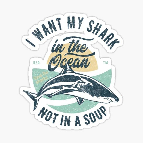 Save The Sharks - Regalos para los amantes de los tiburones Pegatina