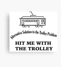 Trolley Problem Canvas Print