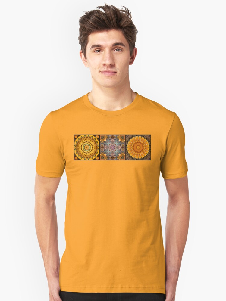 Golden Trio Kaleidoscope Unisex T-Shirt Front