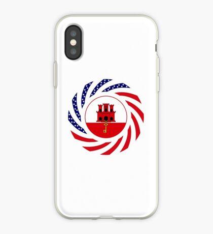 Gibraltarian American Multinational Patriot Flag Series iPhone Case