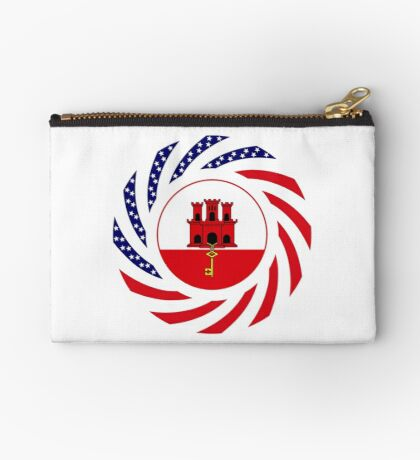 Gibraltarian American Multinational Patriot Flag Series Zipper Pouch