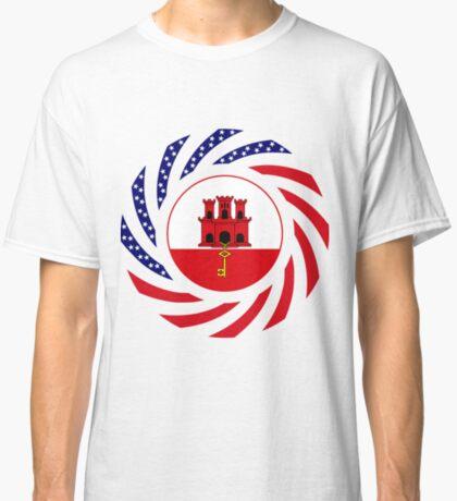 Gibraltarian American Multinational Patriot Flag Series Classic T-Shirt