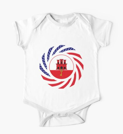 Gibraltarian American Multinational Patriot Flag Series Kids Clothes