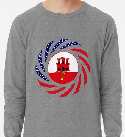 Gibraltarian American Multinational Patriot Flag Series Lightweight Sweatshirt