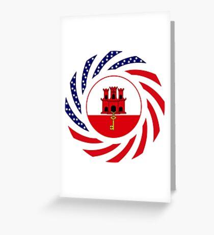 Gibraltarian American Multinational Patriot Flag Series Greeting Card