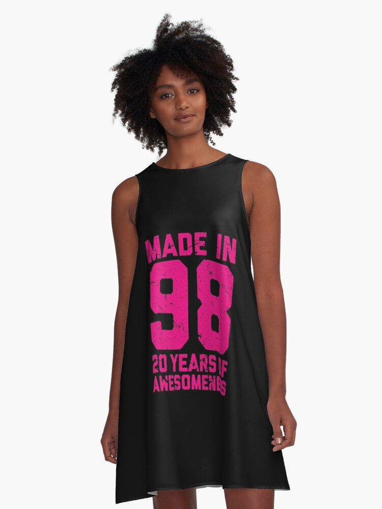 20th Birthday Gift Adult Age 20 Year Old Women Womens A Line Dress Front