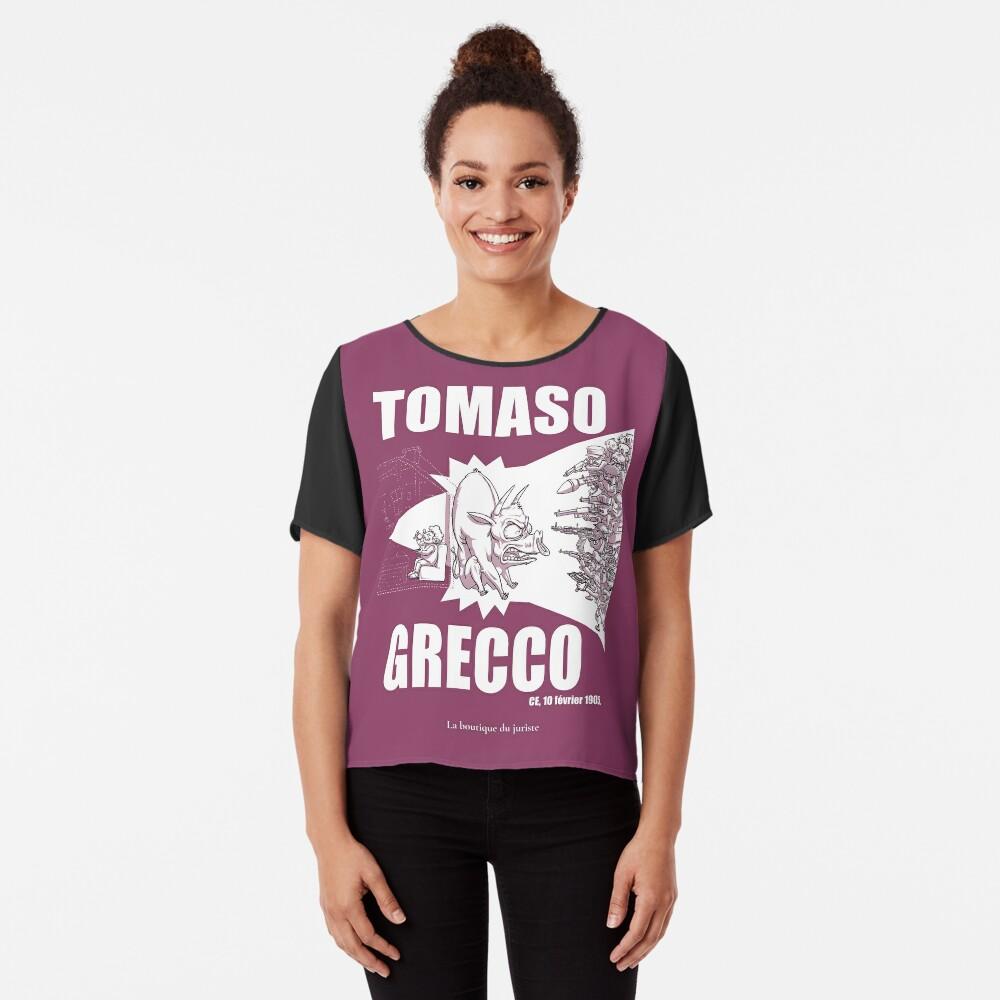 Top mousseline «Tomaso Grecco»