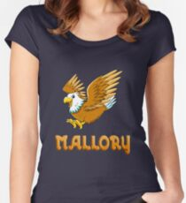 Mallory Eagle Sticker Women's Fitted Scoop T-Shirt