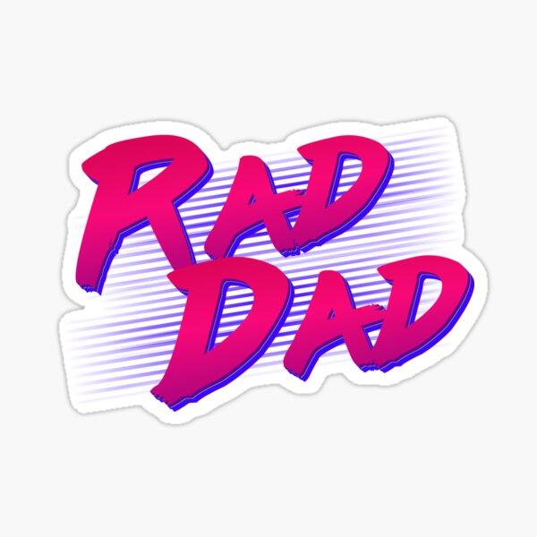 Rad Dad Retro Sticker