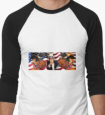 Most American Image Ever Men's Baseball ¾ T-Shirt