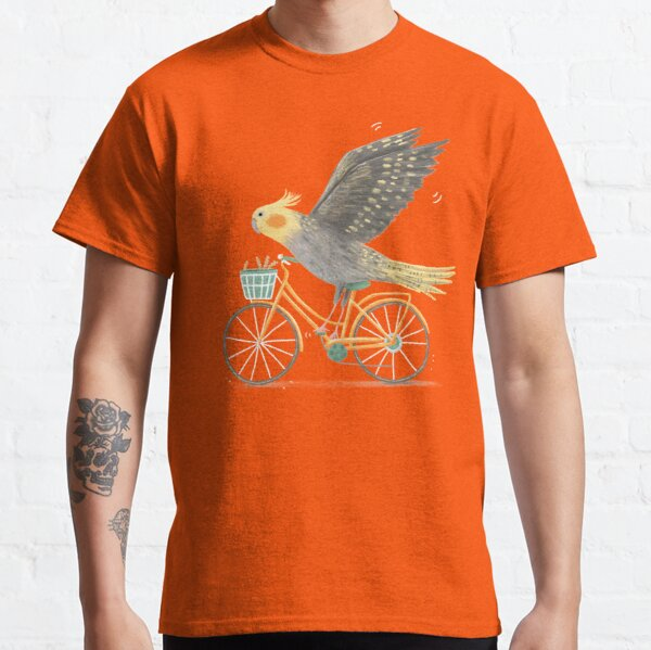 Cockatiel on a Bicycle  Classic T-Shirt