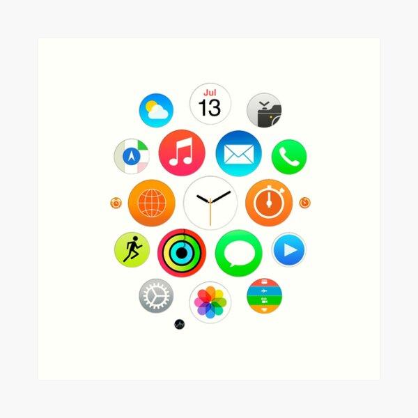 Apple Watch Face - Apps Art Print