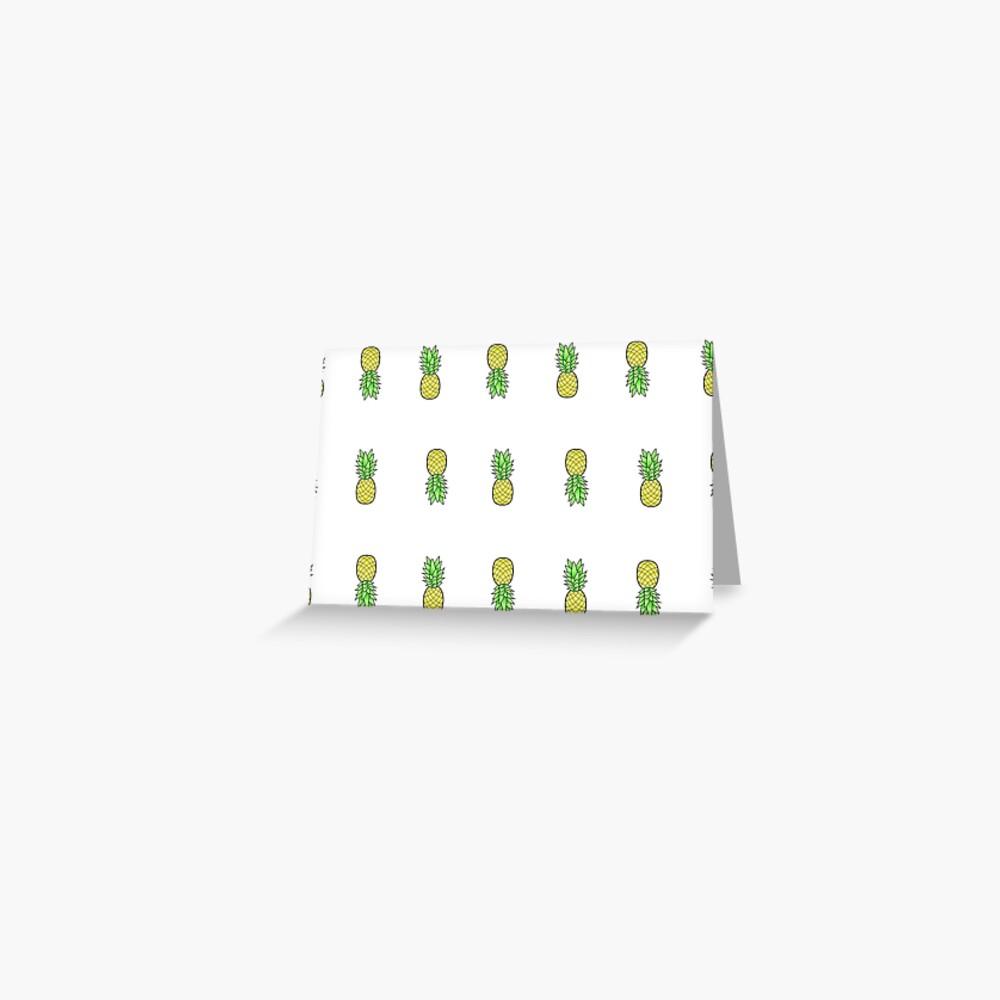 viele kleine Ananas im Stil Grußkarte