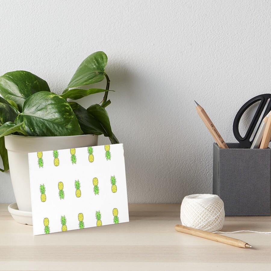 viele kleine Ananas im Stil Galeriedruck