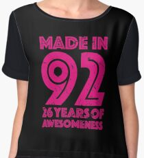 26th Birthday Gift Adult Age 26 Year Old Women Womens Chiffon Top