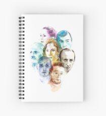 CRISIS Siete personajes en blanco Cuaderno de espiral