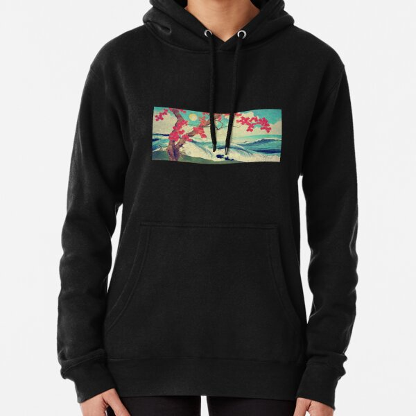 Waking to the Wild and Beautiful Ocean of Dhin Pullover Hoodie