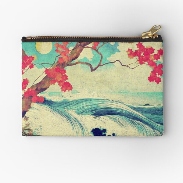 Waking to the Wild and Beautiful Ocean of Dhin Zipper Pouch