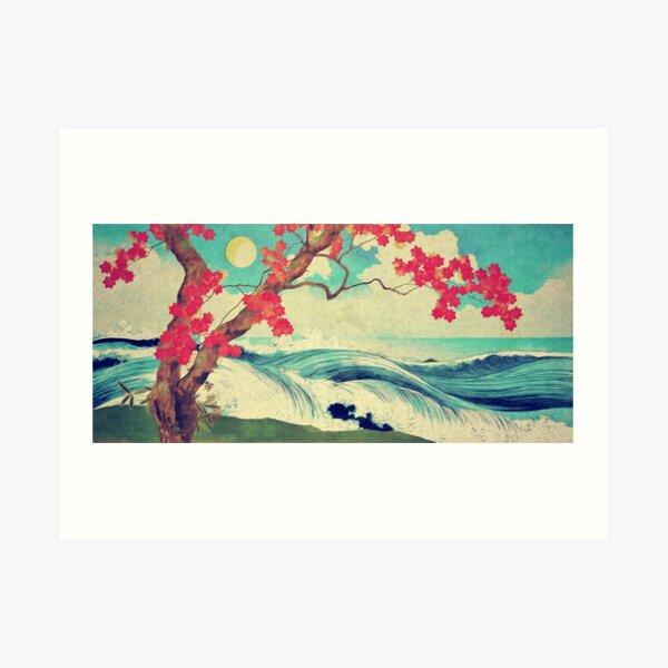 Waking to the Wild and Beautiful Ocean of Dhin Art Print