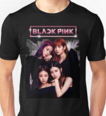 Schwarz Rosa Slim Fit T-Shirt