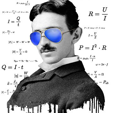 Funny Tesla Nerd Shirt, Great Gift for Birthday by FELSENSTEIN