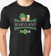 St Pats Clothes Maryland St Patricks Day Party Shamrock Unisex T-Shirt