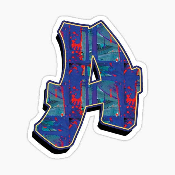 A - Paintdrips Sticker