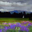 Chapel in the Lupine Mindscape by Wayne King