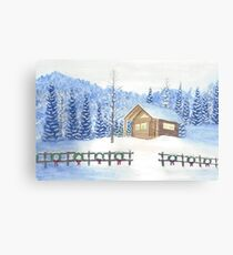 Christmas Cabin Canvas Print