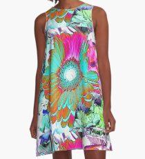 FLOWER COLLAGE A-Line Dress