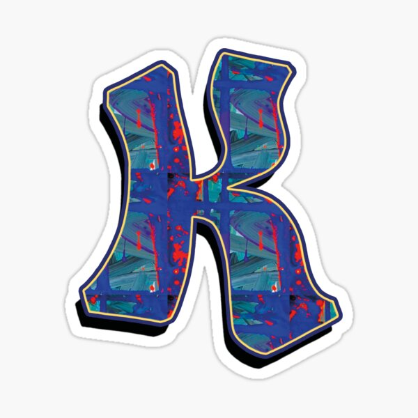 K - paintdrips Sticker