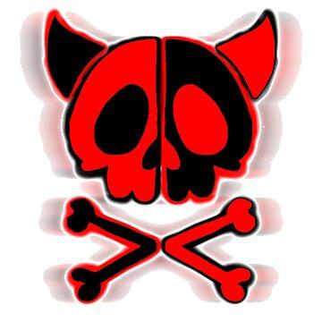 horned cute skull by mysteriosupafan