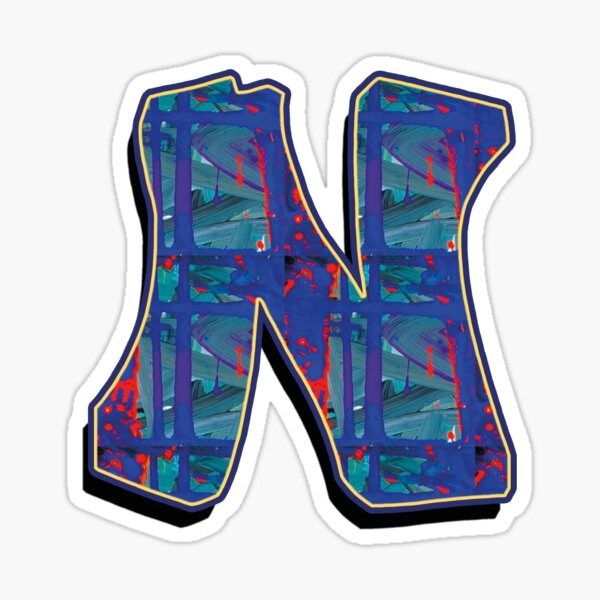 N - paintdrips Sticker