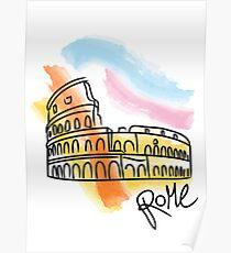 Coliseo Dibujo Pósters Redbubble