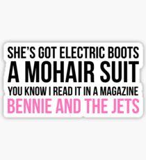 Bennie and the Jets Print Sticker