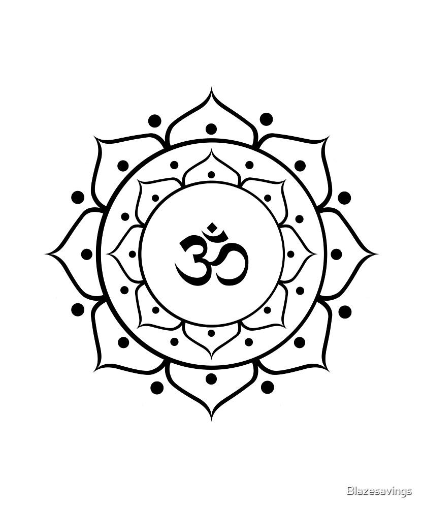 Om Zen Buddha Symbol Lotus Energy Sign Yoga Meditation By