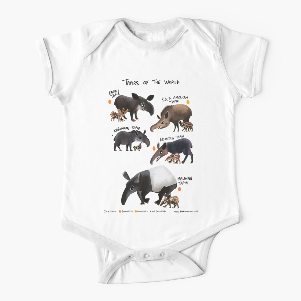 Tapirs of the World Baby One-Piece